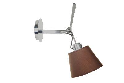 Настенный дизайнерский светильник-бра Tolomeo Parete 18cm brown/chrome