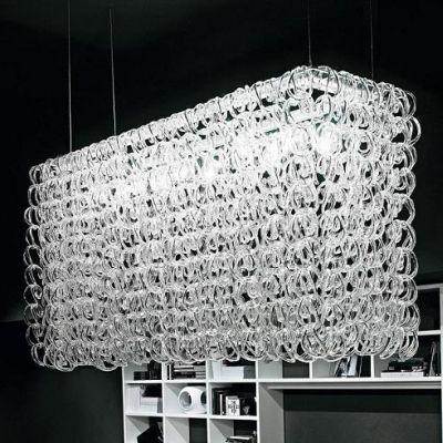 Дизайнерская подвесная люстра Vistosi Giogali black люстры