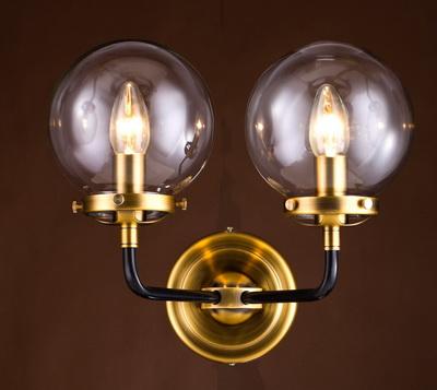 Дизайнерский настенный светильник-бра, бронза