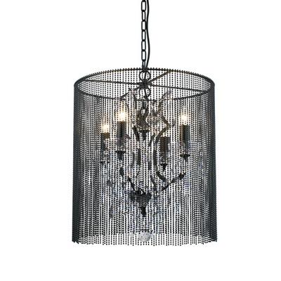 Дизайнерская подвесная люстра с хрусталем, черный никель