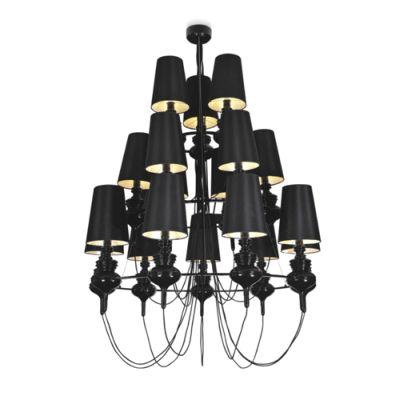 Дизайнерская люстра Josephine black 18 плафонов бра josephine 5d 37 x 58 прозрачный