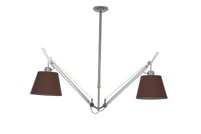 Дизайнерский потолочный светильник Tolomeo Suspension Basculante 24cm brown/chrome