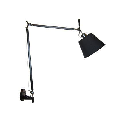 Настенный светильник-бра Tolomeo Parete basculante 24cm black/black matte кеды кроссовки низкие dc wes kremer tan brown
