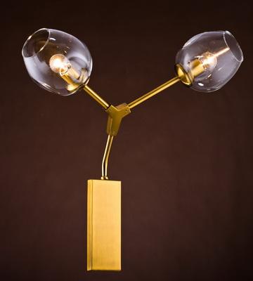 Дизайнерский настенный светильник-бра, латунь настенный дизайнерский светильник бра