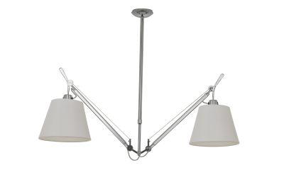 Дизайнерский потолочный светильник Tolomeo Suspension Basculante 36cm white/chrome