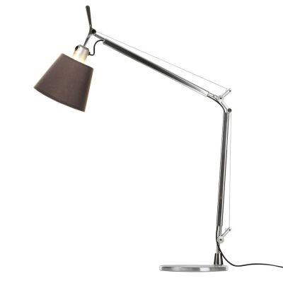 Дизайнерская настольная лампаTolomeo brown/chrome
