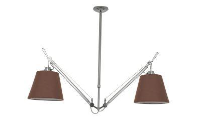 Дизайнерский потолочный светильник Tolomeo Suspension Basculante 36cm brown/chrome