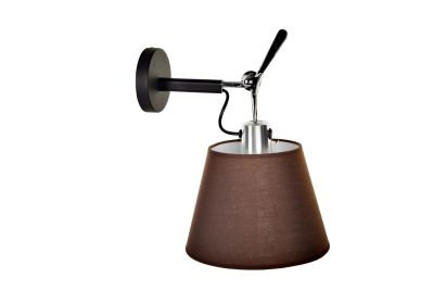 Настенный дизайнерский светильник-бра Tolomeo Parete diffusore 24cm brown/black matte falmec quasar top parete 90 ix 800