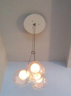 Светильник подвесной Bocci 28.3, D10 прозрачный
