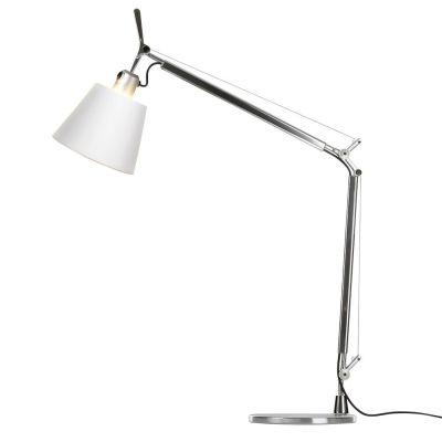 Дизайнерская настольная лампа Tolomeo white/chrome
