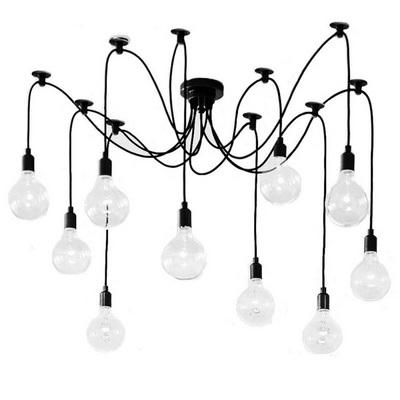 Потолочный светильник Edison Chandelier 6 черный