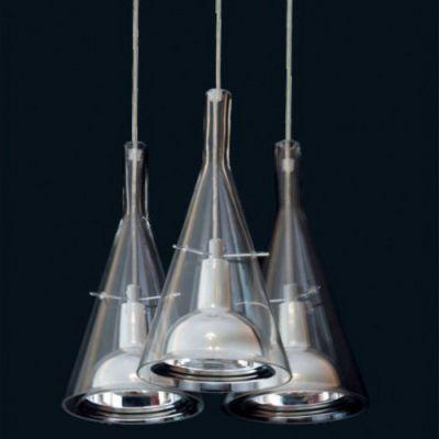 Дизайнерский подвесной светильник Fucsia 3 плафона дизайнерский подвесной светильник copacabana