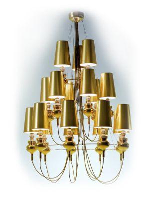 Дизайнерская люстра Josephine gold 18 плафонов бра josephine 5d 37 x 58 прозрачный