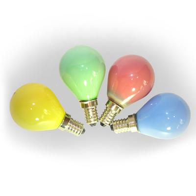 Лампа накаливания Шар 15W синий