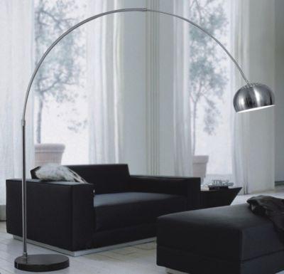 Дизайнерский напольный торшер Arco disk black