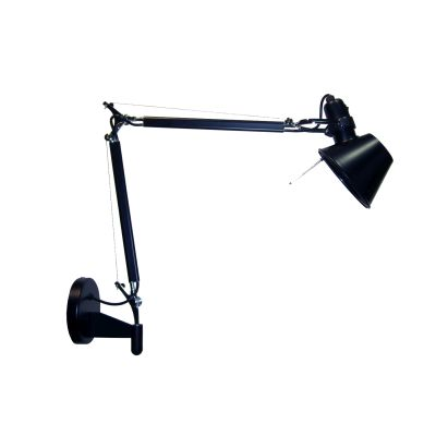 Настенный дизайнерский светильник-бра Tolomeo Parete micro black matte